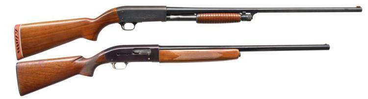 2 SHOTGUNS. ITHACA & WINCHESTER.