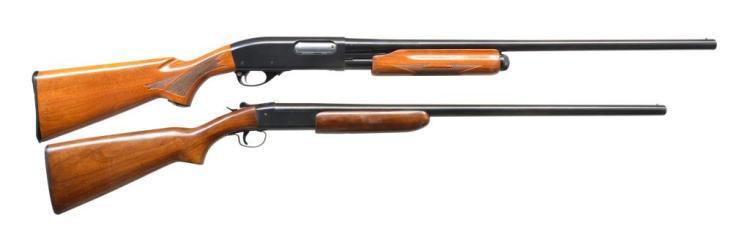2 SHOTGUNS BY REMINGTON & WINCHESTER.