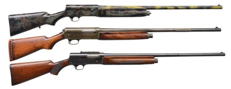 3 WINCHESTER & REMINGTON SEMI AUTO SHOTGUNS.