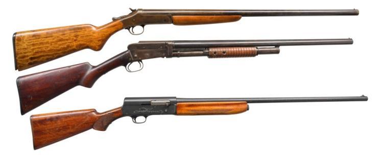 3 CURIO SHOTGUNS.