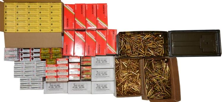 LOT OF MILITARY & COMMERCIAL 5.56/.223 AMMO.
