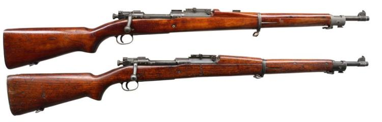 2 SPRINGFIELD MODEL 1903 BOLT ACTION RIFLES.
