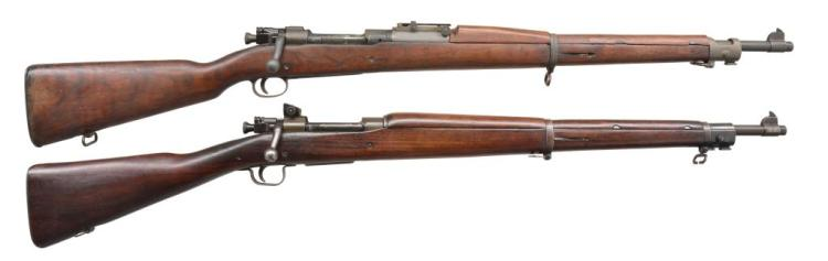2 US MILITARY BOLT ACTION RIFLES.