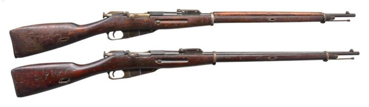 2 REMINGTON MODEL 1891 BOLT ACTION RIFLES.