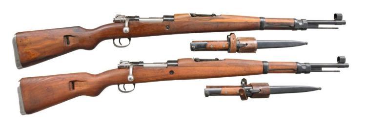 2 YUGOSLAVIAN M48 BOLT ACTION RIFLES.