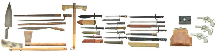 LARGE VARIETY OF EDGED WEAPONS & MORE.