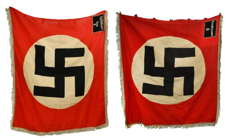 2 WWII GERMAN FLAGS.