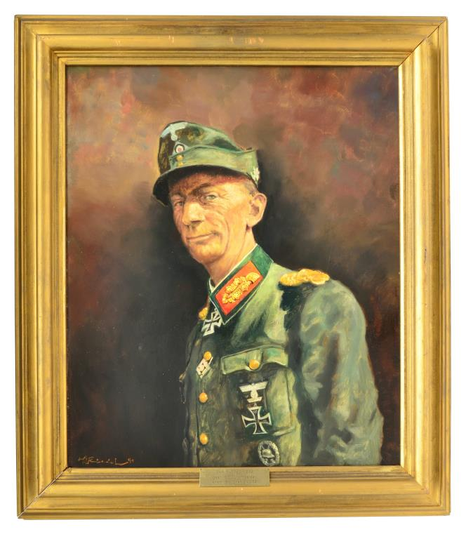 OIL PAINTING OF A WWII GERMAN GENERAL.