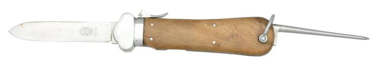 WWII GERMAN FALLSCHIRMJAGER GRAVITY KNIFE.