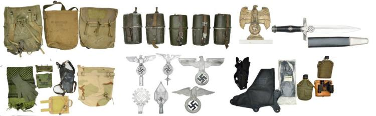 LARGE GROUP OF MILITARIA & RELATED ITEMS.