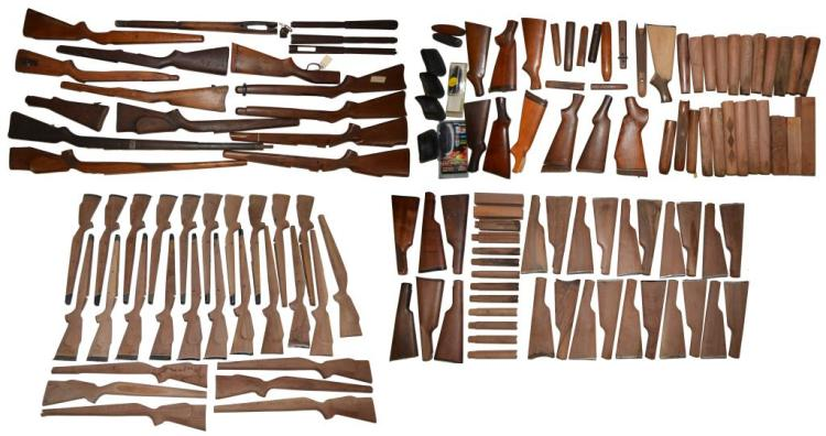 LOT OF RIFLE STOCKS, FOREND & HANDGUARDS.