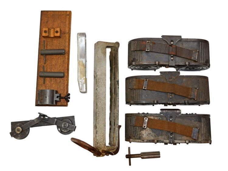 3 GERMAN MG 15 MAGAZINES & ACCESSORIES.