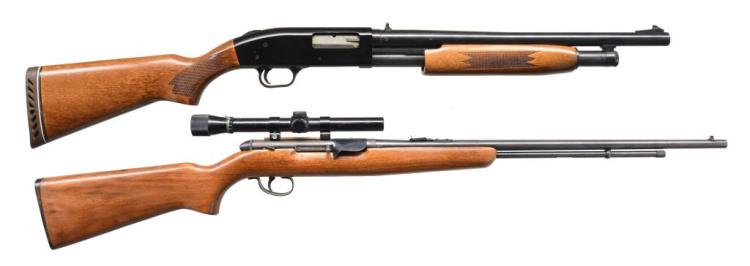2 MOSSBERG SPORTING LONGARMS.
