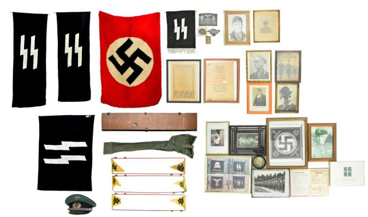 LOT OF WWII & LATER GERMAN ITEMS.