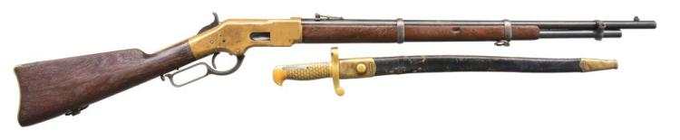 WINCHESTER 3RD MODEL 1866 LEVER ACTION MUSKET.