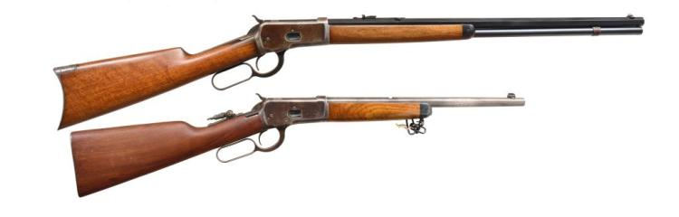 2 WINCHESTER 1892 LEVER ACTION RIFLES.