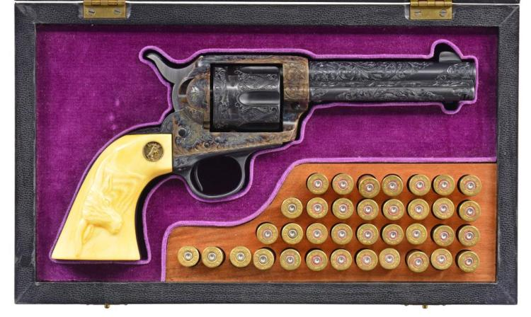 DENISE THIRION ENGRAVED COLT FRONTIER SIX SHOOTER