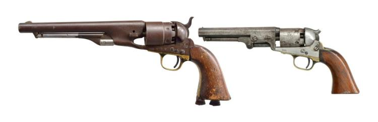 2 COLT CAP AND BALL REVOLVERS.