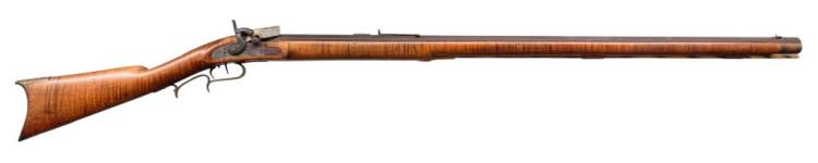 KENTUCKY FULL STOCK PERCUSSION RIFLE.