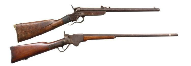 SPENCER W/ SHARPS & HANKINS SINGLE SHOTS.