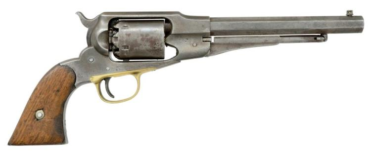 REMINGTON 1861 NEW MODEL NAVY REVOLVER WITH US MARKINGS.