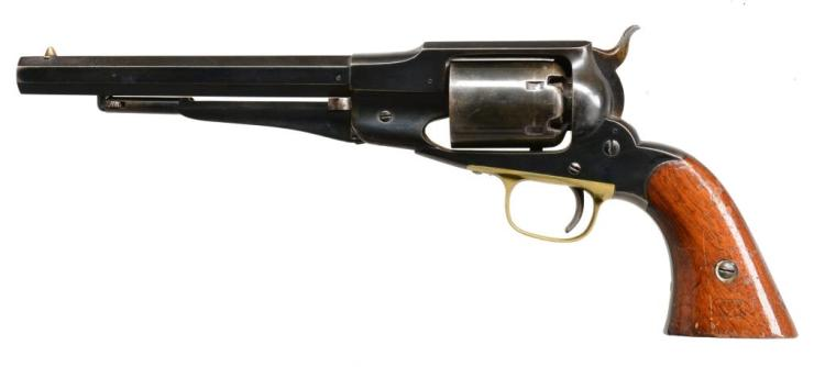REMINGTON 1861 OLD MODEL NAVY REVOLVER WITH US MARKINGS.