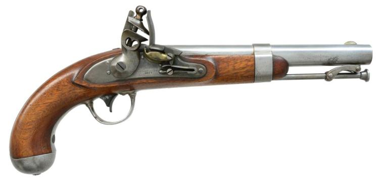 R. JOHNSON 1836 US FLINTLOCK PISTOL.