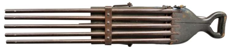 FLINTLOCK 5 BARREL VOLLEY GUN.