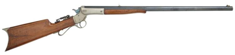 J. STEVENS No. 5 TIP-UP SINGLE SHOT RIFLE.