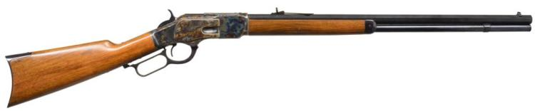 E. M. F. BY UBERTI 1873 LEVER ACTION RIFLE.