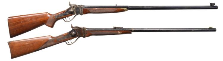 2 SHARPS REPRODUCTION RIFLES BY CIMARRON & DIXIE.