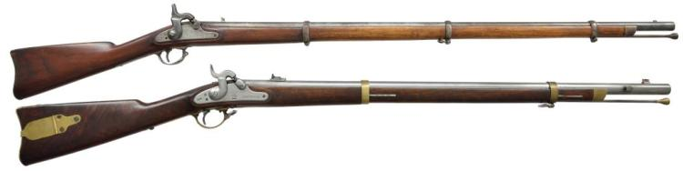 2 ANTIQUE CALIBER 58 LONGARMS.