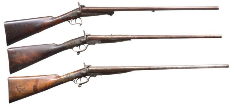 3 ANTIQUE SXS LONG ARMS.