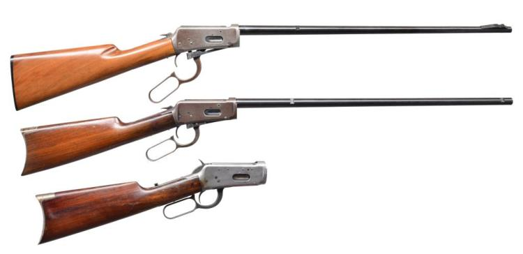 3 WINCHESTER INCOMPLETE 94 LEVER ACTION RIFLES.