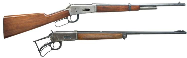 2 WINCHESTER INCOMPLETE LEVER ACTION RIFLES.