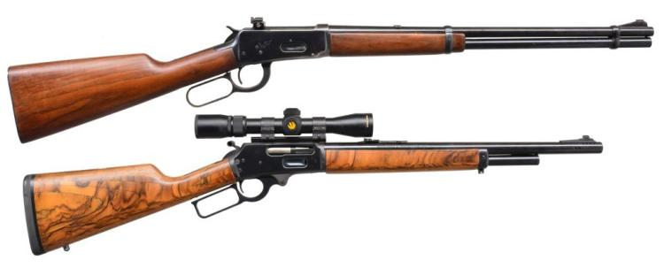 MARLIN & WINCHESTER 94 LEVER ACTION CARBINES.