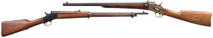 2 RIFLES: REMINGTON & NAVY ARMS.