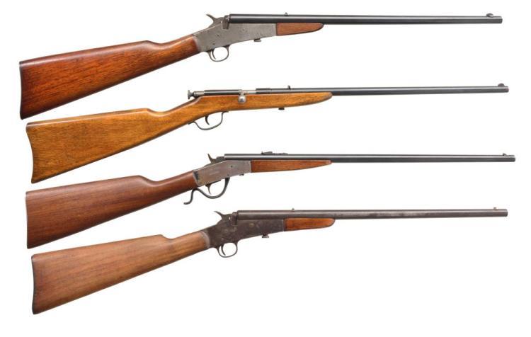 4 SINGLE SHOT BOY'S RIFLES BY REMINGTON & PAGE