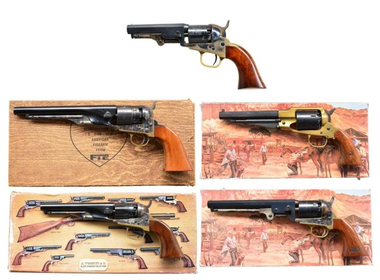 5 REPRODUCTION PERCUSSION REVOLVERS.