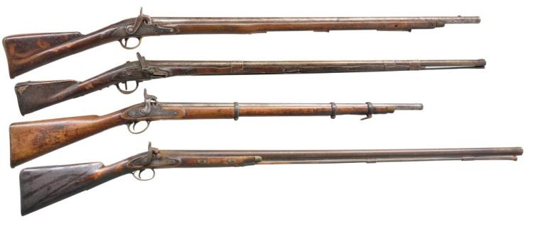 4 ANTIQUE LONG GUNS.