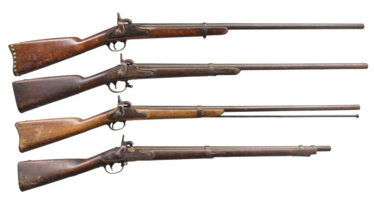 4 ALTERED U.S. MILITARY MUSKETS.
