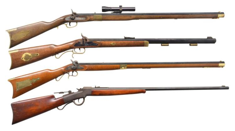 4 RIFLES. MIROKU, TRADITIONS, ITALIAN & BALLARD.