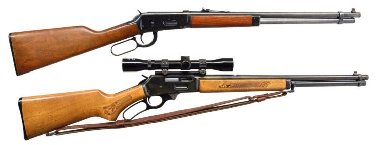 2 MODERN AMERICAN CAL. 30-30 LEVER ACTION RIFLES.