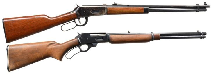 2 MODERN LEVER ACTION RIFLES.