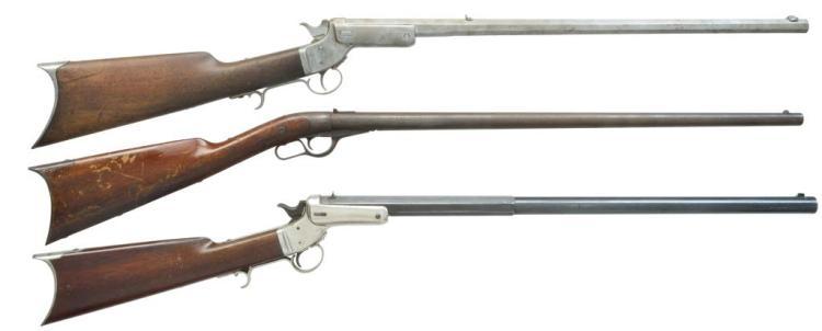 3 SINGLE SHOT RIFLES BY WHITNEY-HOWARD & J.