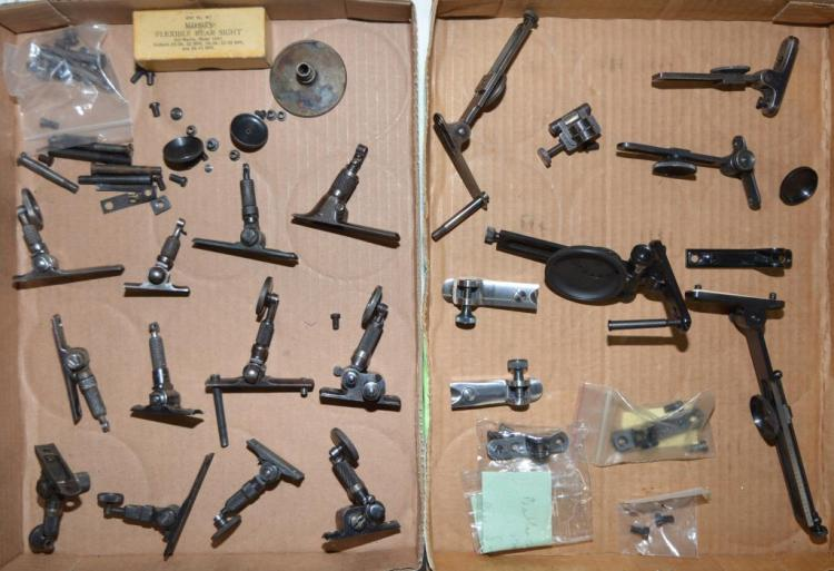 LOT OF MISC. VINTAGE & REPRO. TANG SIGHTS.