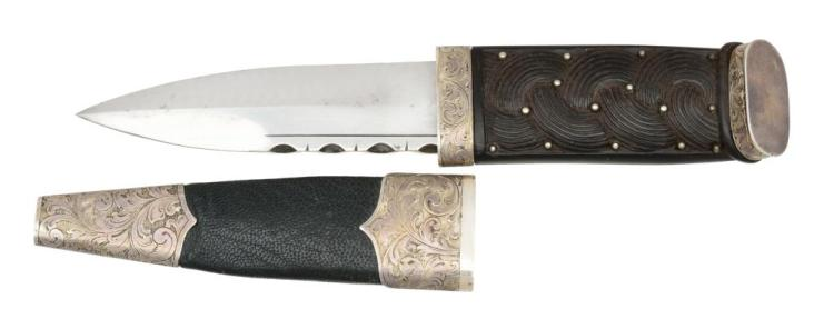 A.A. WHITE ENGRAVED SCOTTISH DIRK.