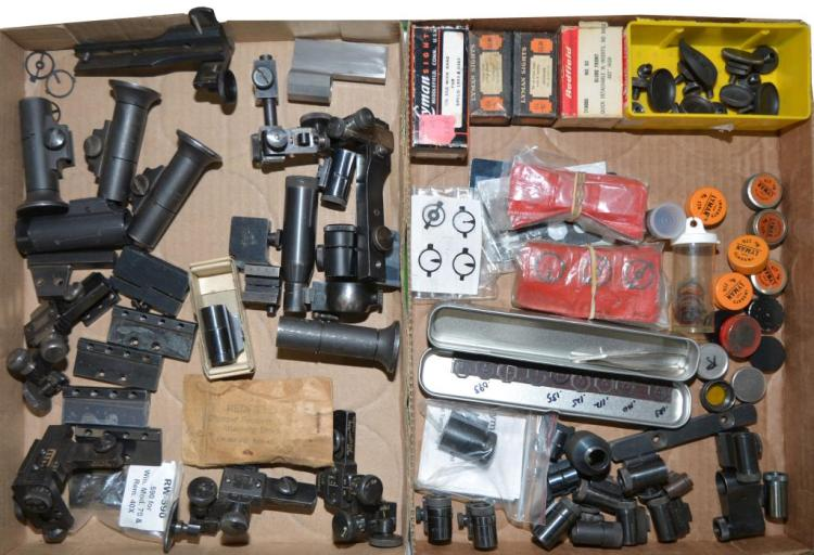 LOT OF TARGET RECEIVER & GLOBE FRONT SIGHTS.