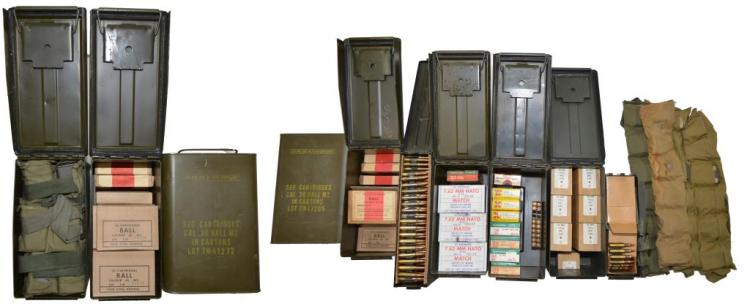 MILITARY & COMMERCIAL AMMO.