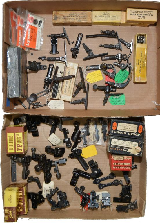 LOT OF APPROX. 40+ RECEIVER & TANG SIGHTS.